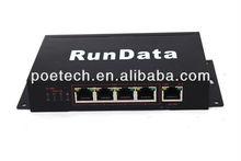 5 port POE Switch,15.4W per port,60W adapter power