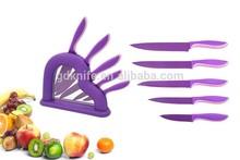 High quality 5pcs kitchen knife,non-stick knife,color knife set