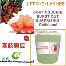 Taiwan bubble tea Lychee/Litchi fruit coating juice boba