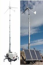 Off Grid Wind Solar Hybrid System Wind Turbine mobile portable controller