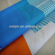 Brushed fabric bleaching process