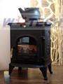 de hierro fundido estufa de leña con horno