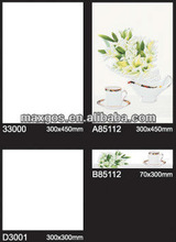 300*450 kitchen White Luster glossy shiny wall tile
