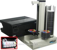 Apollo PA9E CD DVD Printer Autoloader w/ CISS Inkjet Printer, Epson L800 Bulk Ink Printer, 600 Disc Capacity
