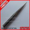 6*30H*0.4*10Degree*60L Tungsten Carbide 2 Flutes Taper Flat End Mill / Taper Flat End Mills
