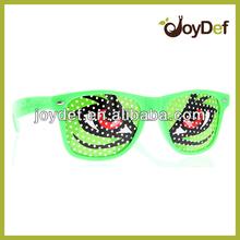 Logo Lens Pinhole Wayfarer Sunglasses Cartoon Eye Design