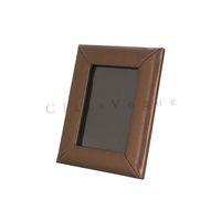 Wood finish leather Photo frames
