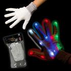 hot sale LED flashing light gloves electrical hot gloves fluorescent gloves