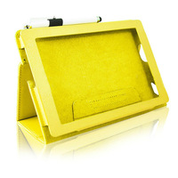 Yellow Leather Case Wallet for Amazon Kindle Fire HD