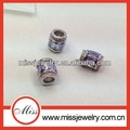 la moda cz púrpura diamante pavimentar perlas de la joyería a granel en