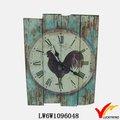 nuevo luckywind antiguo retro gallo verde de madera del arte reloj