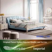 Blue royal modern bedroom furniture sets bed EF1183