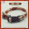 2014 heat transfer printing blooming flower pet collar