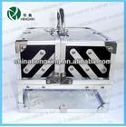 Clear Acrylic Cosmetic Case Set cosmetic suitcase,acrylic beauty bin