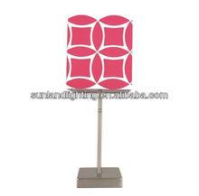 modern iron table light, fabric lamp shades GW039