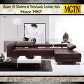 Italiana moderna sofá secional de couro genuíno JB529
