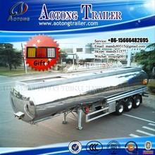 3 Axles Aluminum Fuel/Edible Oil Tanker Truck Semi Trailer/Tank Trailer (Cylindrical-Type Tank )