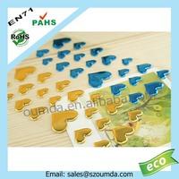 Colorful heart epoxy resin craft sticker