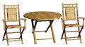 Bfs-13011- gros meubles en bambou en bambou extérieur- table ronde à manger ensemble