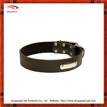 Black Pitbull Spiked and Beaded Leatherdog collar