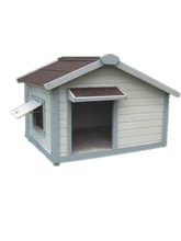 Cheap Outdoor Wooden Dog House with View / Dog Kennel