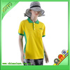 2014 Top selling slim fit yellow t shirts for women cheap polo t shirts for women