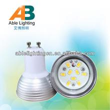 4.5w dimmable led light 24v 110v ac 3000k 5630-9smd high bright samsung spotlight 80cri bulb gu10 frosted