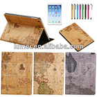 New World Map PU Leather Stand Case Cover For Apple iPad Air 5 5th