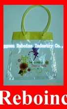 clear pvc bag with handle chain