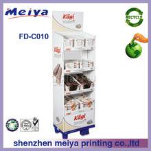 Retail recycle paper chocolate display stand,paper display stand for chocolate,cardboard chocolate display rack