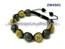 New products Popular best price crystal ball beads shamballa bracelet jewelry