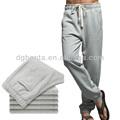 Pantalones baratos del hombre deportivos 100% algodón para hombre pantalones de lana con cordón