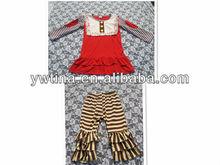 2015 new fashion children's outfits baby set baby girls 2pcs set full sleeve T-shirt