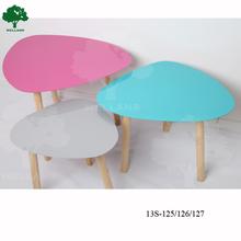 Metal top with wood leg modern coffee table
