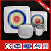 Hot selling fine China square porcelain dinner set