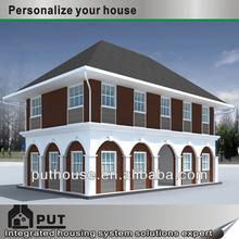 2 storey modular light steel frame house design