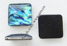 Dichroic Glass 16mm square glass cabochon