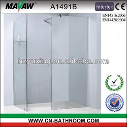 space saved frameless shower screen A1491B