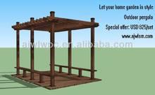 Strong wooden plastic material build pergola