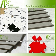 Eco-friendly laminated paper grey board 2mm for puzzle