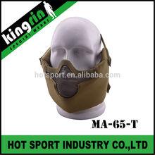KINGRIN New tactical gear V8 strike steel mesh protect face mask safety