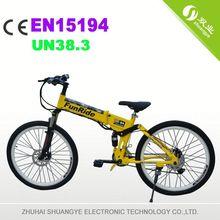 """36v 500w brushless motor 26"""" folding high power electric bike"""
