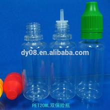 Childproof plastic dropper bottle 20ML eliquid bottle empty bottle