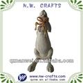 resina estatueta coelho decoração home
