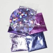 Hot sale purple Dust glitter nail Mix Glitter Pack