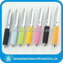 2014 hot selling metal mini soft grip ball pen mini EVA pen eva ball pen