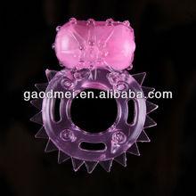 el poder del sexo del producto para los hombres anillo vibrador pene retrasar la eyaculación anillo para el pene de choque eléctrico de juguete del sexo