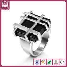 top latest design 2014 trendy turkish black stone ring for men