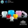 ADA--CP-203 cream plastic sample jars /decorative plastic jars