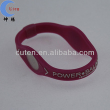 Hot sale colorful energy silicone bracelet